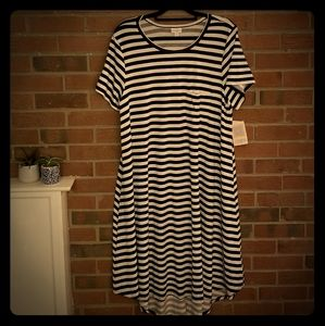 2X Lularoe striped Carly new with tags